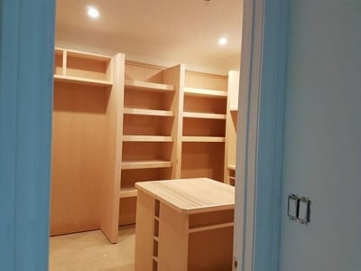 Recently renovated office storage closet