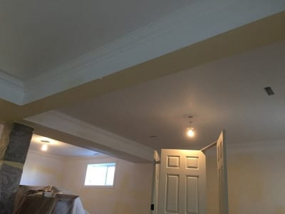 Interior view of a home's ceiling