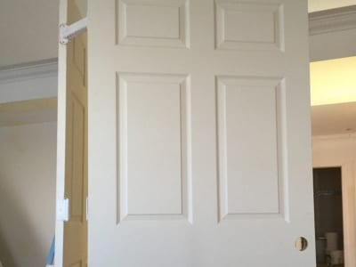 Various interior doors in a home