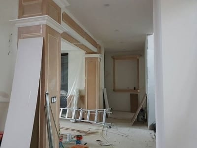 Home interior being renovated