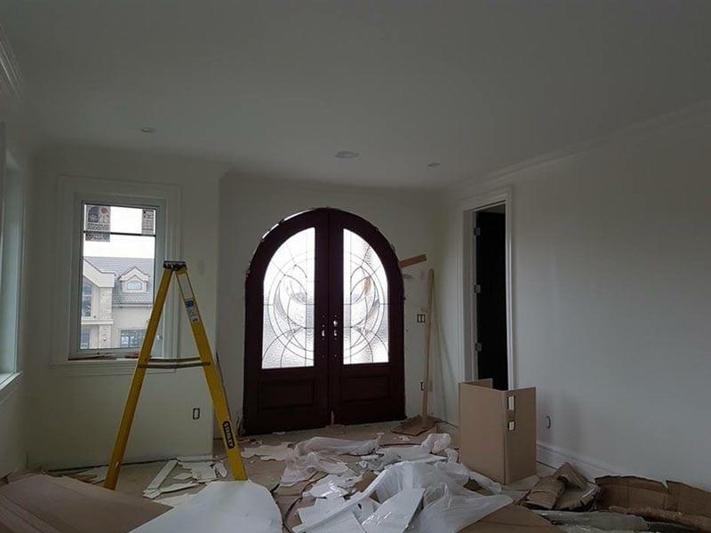 Entry hall under renovation